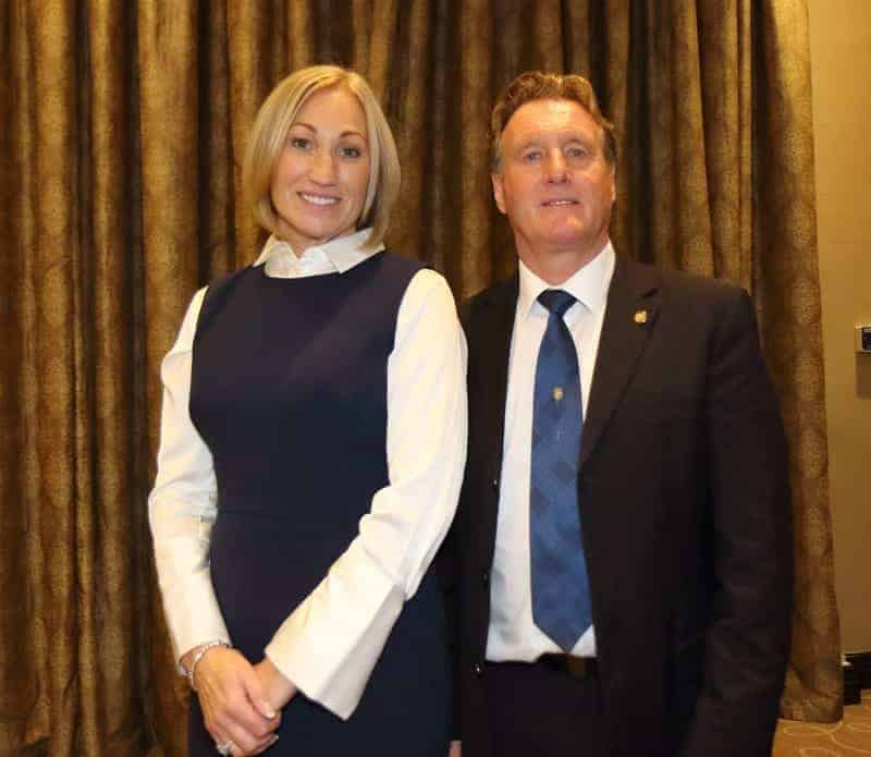 Tracey Silcock and Michael Houghton