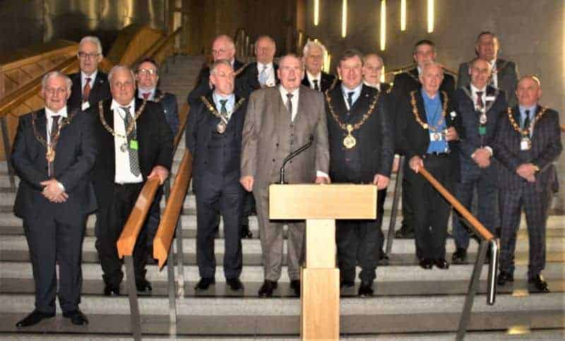Richard Lyle MSP with Guild officials