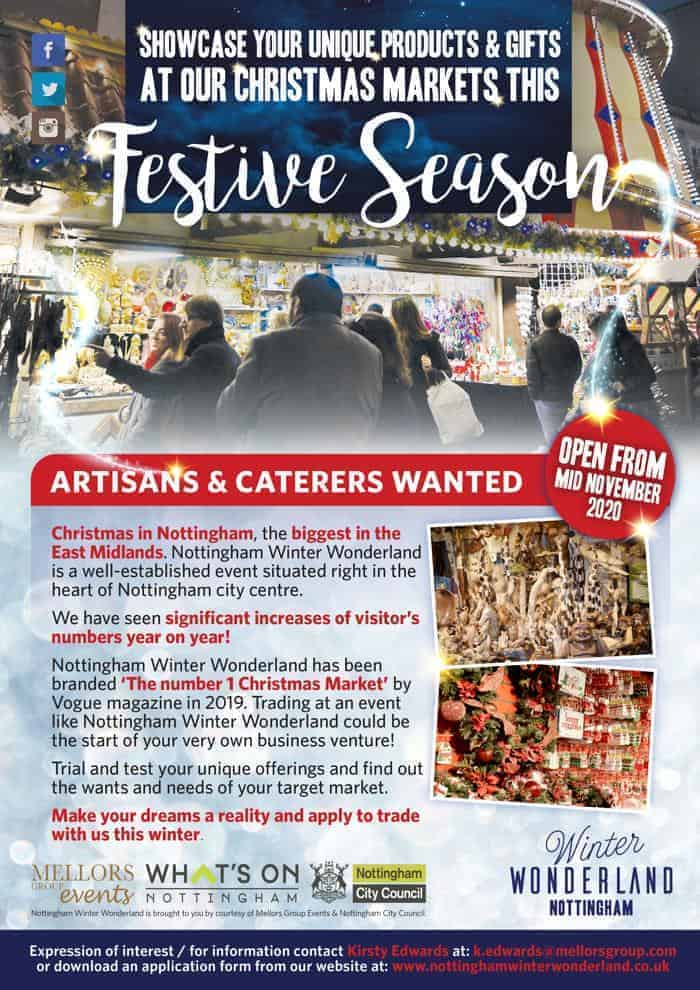 Artisans & Caterers Wanted, Nottingham