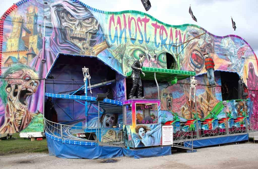 photo of Ghost train fairground ride